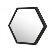Espelhos hexagonal com moldura 45 x 37 cm