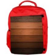 Snoogg Eco Friendly Canvas Multicolor Wood Design Designer Backpack Rucksack School Travel Unisex Casual Canvas Bag Bookbag Satchel 5 L Backpack(Red)
