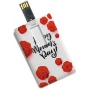 100yellow 8GB Credit Card Type Happy Mother's Day Printed /Data Storage -Gift For Mom 8 GB Pen Drive(Multicolor)
