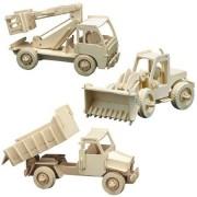 Pebaro puzzle 3D Set 3 Masini de constructii