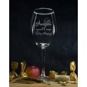 """Именной бокал для вина """"Лучший в мире Дед Мороз"""""""
