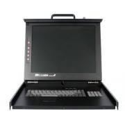 """StarTech.com 19"""" Folding LCD Rack Console With 16 Port..."""