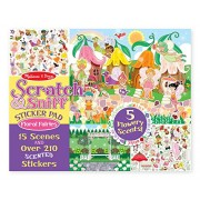 Melissa & Doug Scratch and Sniff Sticker Pad - Floral Fairies, Multi Color