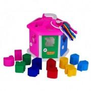 Casuta bebe roz cu cuburi si chei Play House Polesie