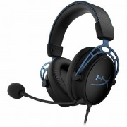 Kingston HyperX Gaming Headset, Cloud Alpha S, blue, 50mm drivers, USB Audio Control Mixer + 3.5mm jack, bass adjustment, headset (1m) + audio control box (2m), EAN: 740617289916 HX-HSCAS-BL/WW