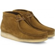 Clarks Wallabee Boot Bronze Boots For Men(Bronze)