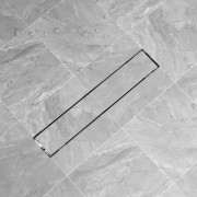 vidaXL Rovný sprchový odtok, 630x140 mm, nerezová oceľ
