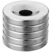 Imanes magneticos redondos magneticos del ndfeb de 18m m * 3m m - plata (5 PC)