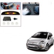 Auto Addict Car White Reverse Parking Sensor With LED Display For Fiat Punto Evo