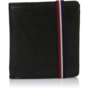 Fastrack Men Casual Black Genuine Leather Wallet(6 Card Slots)