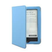 Shop4 - Tolino Vision 3 HD Hoes - Book Cover Lychee Licht Blauw
