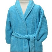 Clarysse Kimono kinderbadjas zonder capuchon Aqua 110/116