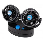 Ventilator auto Streetwize Twin Cyclone 12V , ventilator dublu, oscilant, 27x18x11cm Kft Auto