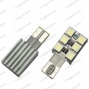 Bec led T10 / W5W / 194 cu 6 SMD 5050 Fara Eroare Canbus Alb 6000K