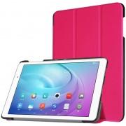Capa Inteligente Tri-Fold para Huawei MediaPad T2 10.0 Pro - Cor-de-Rosa Forte