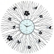 Kovové paprskovité luxusní nástěnné designové hodiny JVD HJ29