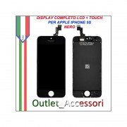 Display Lcd IPHONE 5S A1453, A1457, A1518, A1528, A1530, A1533 Touch Vetro Nero Black Completo OEM ORIGINALE