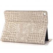 Bolsa Em Pele em Folio Para iPad Air 2 - Crocodilo - Cinzento