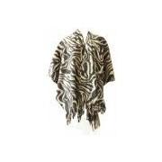 Boris Dames mantel / cape poncho zebraprint