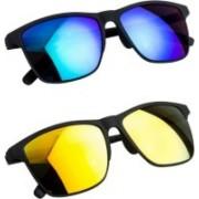 Flynn Clubmaster Sunglasses(Blue, Yellow)