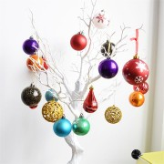 Christmas Tree Decoration Christmas Decorative Ball Plastic Ball Bright Dumb Lines Gift Hanging Decorations Gift