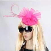 Geen Luxe grote roze hoed voor dames