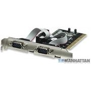 Manhattan Serial PCI Card 2 External DB9 Ports,
