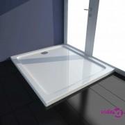 vidaXL Pravokutni ABS pod za tuširanje bijeli 80 x 90 cm