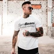 GymBeam Majica Challenge White Black M