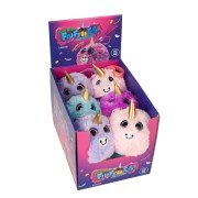 Jucarie squishy pufoasa din plus - unicorn ( neon)