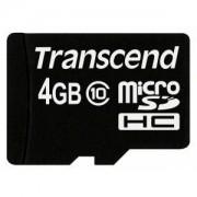 Micro SD Card, 4GB, Transcend MICRO, Class10 (TS4GUSDHC10)