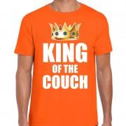 Bellatio Decorations Koningsdag t-shirt king of the couch oranje voor heren