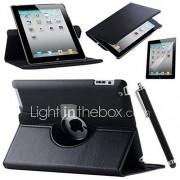 retina ipad 360 roterende stand flip slimme pu lederen case voor de iPad lucht