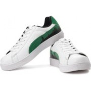 Puma BASKET CITY Ind. Mid Ankle Sneakers For Men(Green, White, Black)