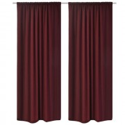 Set 2 draperii bordo opace cu strat dublu, 140 x 245 cm