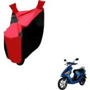 Intenzo Premium Red and Black Two Wheeler Cover for Yo Bike Yo Spark
