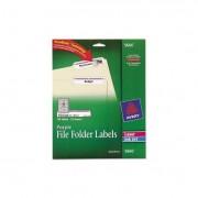 Permanent File Folder Labels, Trueblock, Inkjet/laser, Purple Border, 750/pack