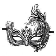 Easytoys Fetish Collection Easytoys Open Venetiaans Masker - Zwart (Ex)