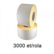 Félfényes címke, 58x43mm, 3000 címke/tekercs