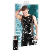 Black Level Powernet Insert Vinyl Muscle Top T Shirt Black 2890364