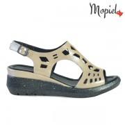 Sandale dama din piele naturala 251109/Bej-Sidefat/Elvira