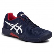 Обувки ASICS - Gel-Resolution 8 Clay Gs 1044A019 Peacoat/Classic Red 400
