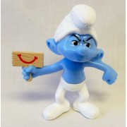 "Grouchy Smurf, #6 Mcdonalds Happy Meal In""the Smurfs 2"" Series"