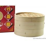 Bambusz gőzölő, 25 cm-es, 3 részes szett