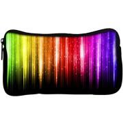 Snoogg Abstract Multicolor Design Poly Canvas Student Pen Pencil Case Coin Purse Utility Pouch Cosmetic Makeup Bag