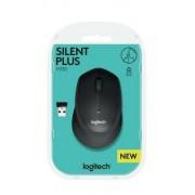 Egér, vezeték nélküli, optikai, USB, LOGITECH, M330 Silent, fekete (LGEM330B)