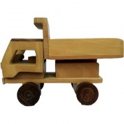 BuzyKart Beautiful Wooden Classical Dumper Truck Toy Cum Showpiece