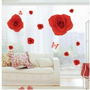 Sticker perete Romantic Red Rose 60x90cm