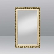 Mirror PIUS with wood frame gold