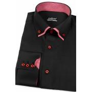 Pánská košile SLIM černá s červenou uvnitř Avantgard 120-2314-43/44/194